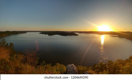 Sunset from a cliff at Lake of the Ozarks