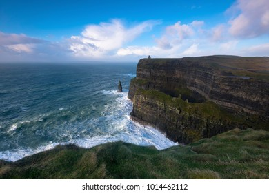 Sunset at the Cliffs of Moher in Clare Co. Ireland.