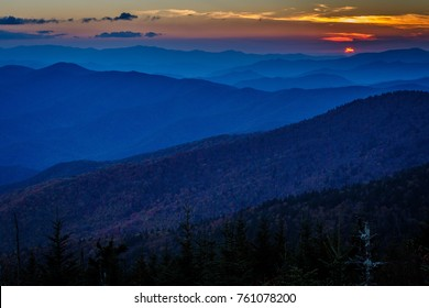 Sunset at Clingmans Dome - Great Smoky Mountains National Park