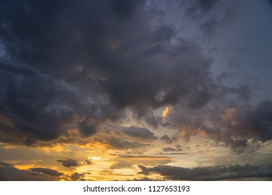 Sunset cloud abstract