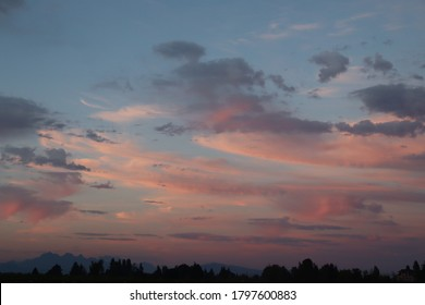 Sunset clouds at Elgin Park Surrey BC Canada