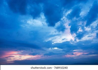 sunset clouds in sky