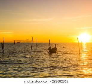 Sunset Coast On a Sunset Beach