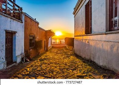 The sunset of Colonia del Sacramento