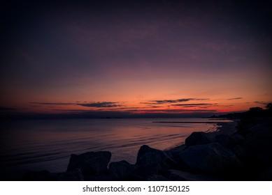 Sunset at Colonia del Sacramento in Uruguay
