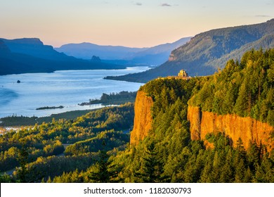 Sunset at Columbia River Gorge, Oregon-USA