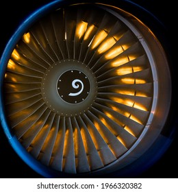 Sunset commercial airplane turbofan engine