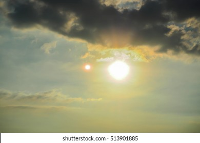 SUNSET CONCEPT:The Sun before Sunset with Cloud