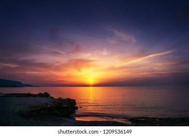 Sunset in Cornino (Custonaci, Trapani, Sicily, Italy)