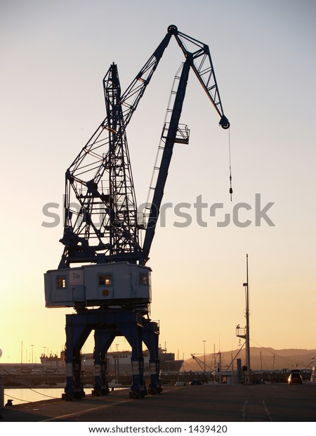 sunset cranes ii