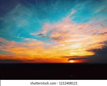 Sunset in Czech Republic