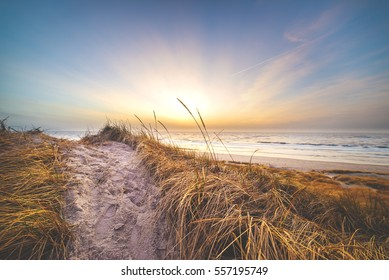 Sunset at the danish dunes