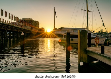 Sunset at the darling harbour