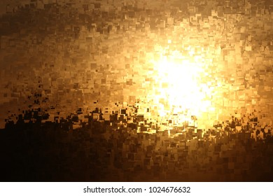 Sunset, the dawn,  tribute to Pollock, Abstract expressionism, composition with sparkles and diffusion of colors.,  graphic,