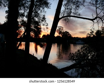 Sunset Dawson River Campground Taree Australia
