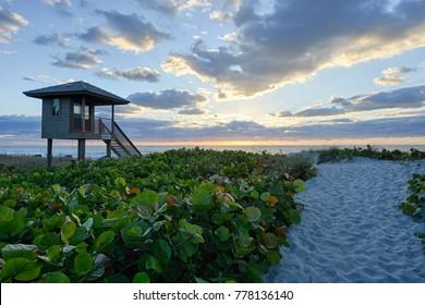 Sunset at Delray Beach