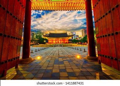Sunset of Deoksugung Palace Seoul,South Korea