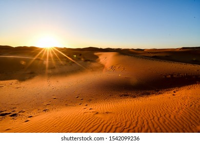 sunset in desert, photo as background , Beautiful digital image , Beautiful digital image