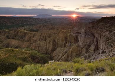 Sunset at Gorafe´s desert in Spain