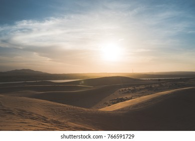 Sunset in the desert. This photo is from White Sand Dunes in Vietnam.