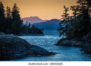 Sunset at Desolation Sound, Canada