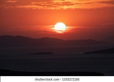 Sunset at Devil's Table ( Seytan Sofrasi ), Ayvalik, Balikesir, Turkey