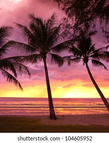 Sunset Divine Burning Skies