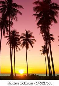 Sunset Divine Evening Scene