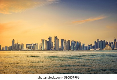Sunset in Doha