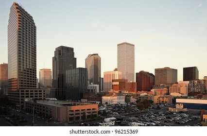 Sunset in downtown fo New Orleans, Louisiana, USA