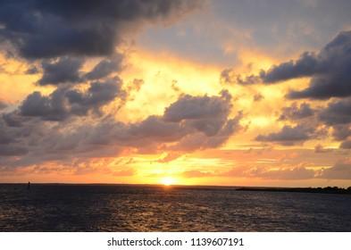 Sunset Dramatic Clouds