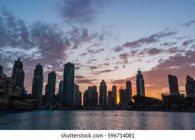 Sunset in Dubai, UAE