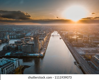 Sunset in Dublin, Drone Photography