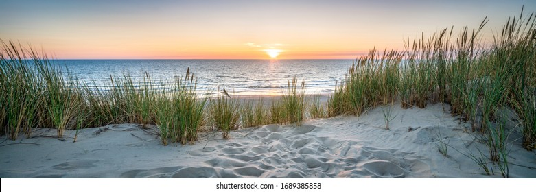 Sunset at the dune beach