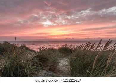 Sunset in Dune Grass, List, Sylt