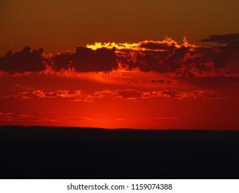 Sunset at dusk