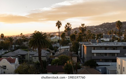Sunset In East Hollywood, California