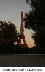 sunset with effel tower.  I really miss it