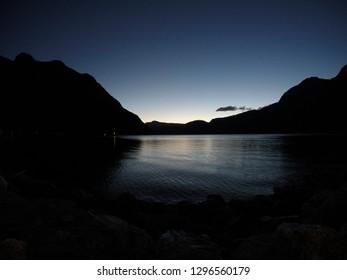 Sunset in Eidfjord, Norway