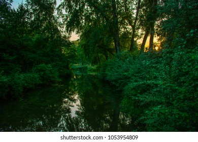 Sunset in Eindhoven's park