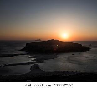 Sunset Elafonisi beach Crete
