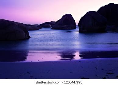 Sunset, Elephant Rocks, Denmark, Southwest Australia