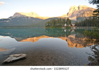 sunset at Emerald lake, Yoho national park, BC, Canada