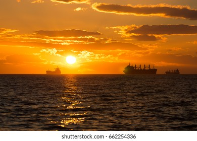 Sunset at English Bay in Vancouver BC, Canada. Exclusive to Shutterstock.