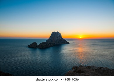 Sunset at Es Vedra and Es Vedranell at Ibiza