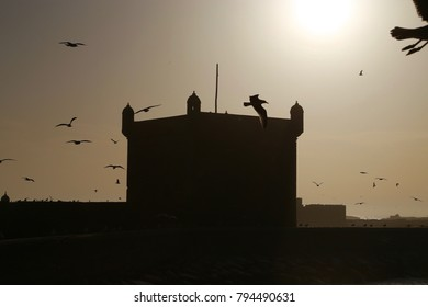 Sunset in Essaouira in Morocco.