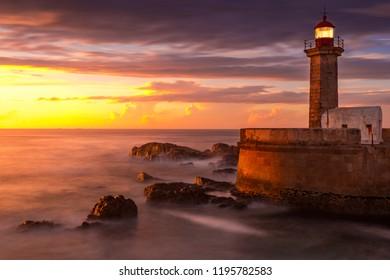 Sunset at Felgueiras Lighthouse