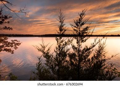 Sunset at Fellows Lake, Springfield, Missouri