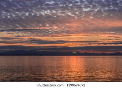 Sunset from Ferry over Vancouver Island