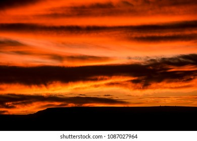 sunset in the fish river canyon, karas, namibia, africa